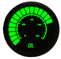 Intellitronix ~ LED Analog Bargraph Oil Pressure in Black Bezel - Green