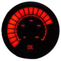 Intellitronix ~ LED Analog Bargraph Oil Pressure in Black Bezel - Red