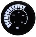 Intellitronix ~ LED Analog Bargraph Oil Pressure in Black Bezel - White