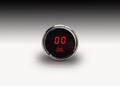 Intellitronix ~ LED Oil Pressure Gauge in Chrome Bezel - Red