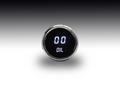 Intellitronix ~ LED Oil Pressure Gauge in Chrome Bezel - White