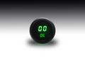 Intellitronix ~ LED Oil Pressure Gauge in Black Bezel - Green