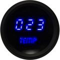 Intellitronix ~ LED Oil Temperature Gauge in Black Bezel - Blue