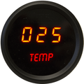 Intellitronix ~ LED Oil Temperature Gauge in Black Bezel - Red