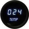 Intellitronix ~ LED Oil Temperature Gauge in Black Bezel - White