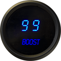 Intellitronix ~ LED Digital Boost Gauge in Black Bezel - Blue