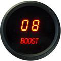 Intellitronix ~ LED Digital Boost Gauge in Black Bezel - Red