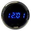 Intellitronix ~ LED Digital Clock in Chrome Bezel - Blue
