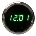 Intellitronix ~ LED Digital Clock in Chrome Bezel - Green
