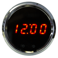Intellitronix ~ LED Digital Clock in Chrome Bezel - Red