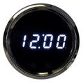 Intellitronix ~ LED Digital Clock in Chrome Bezel - White