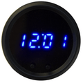 Intellitronix ~ LED Digital Clock in Black Bezel - Blue