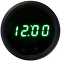 Intellitronix ~ LED Digital Clock in Black Bezel - Green