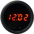 Intellitronix ~ LED Digital Clock in Black Bezel - Red