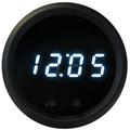 Intellitronix ~ LED Digital Clock in Black Bezel - White