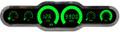 Intellitronix ~ LED 6 Gauge Analog Bargraph Panel - Green