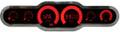 Intellitronix ~ LED 6 Gauge Analog Bargraph Panel - Red