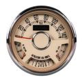 New Vintage ~ Quadzilla Woodward Beige Gauge Kit  - 37157-02