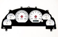 New Vintage 99-04 Mustang Cluster Overlay Perf II White - 26101-03