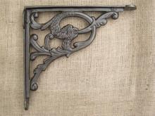 Cast Iron Shelf Bracket - Serpent Design