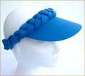 Cobalt Blue Plain Plaited Sun visor