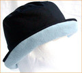 Dark Navy Wax Hat with Pale Blue Fleece Underbrim