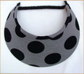 Grey with Giant Black Spots Jumbo Peak Flexi Visor