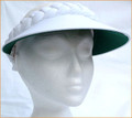 White Jumbo Peak Visor with Green under Peak