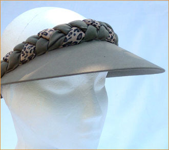 Olive Green Jumbo Peak with Animal Print Plaited Visor - Hats and ... 7d368afa7186