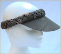 Olive Green with Animal Print Plaited Visor