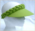 Lime Green Plain Jumbo Peak Plaited Visor