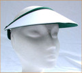 White with Green Under Jumbo Peak Flexi Visor