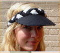 Black White Plaited Sun Visor