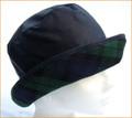Navy Wax Hat with Green Tartan Medium Brim