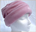 Dusky Pink Ruched Fleece Hat