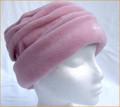 Dusky Pink Ruched Fleece Hat