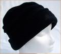 Black Ruched Fleece Hat