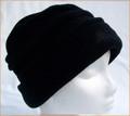 Black Ruched Fleece Hat