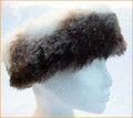 Dark Husky Faux Fur Headband