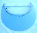 Pale Blue Jumbo Peak Flexi Visor with Swarovski