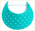 Turquoise with White Spots Jumbo Peak Flexi Visor