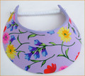 Lilac with Flowers Jumbo Peak Flexi Visor
