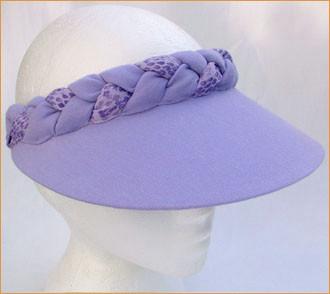 Lilac Plaited Jumbo Peak Visor - Hats and Visors by Sunwiser 138e8c26c443