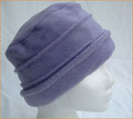 Lavender Fleece Ruched  Hat