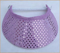 Lilac Sequin Flexi Visor