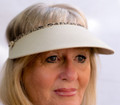 Camel with Animal Print Jumbo Peak Flexi Visor