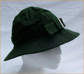 Olive Wax Hat with Silver Buckle
