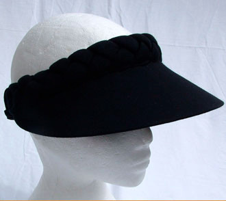 Black Jumbo Peak Plaited Visor - Hats and Visors by Sunwiser a2de868ee2ec