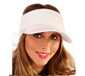 Cream Acrylic Knitted Peak Visor
