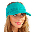 Jade Ladies Acrylic Knitted Peak Visor